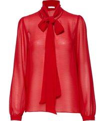peony blouse blouse lange mouwen rood ida sjöstedt