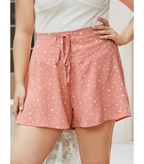 yoins plus talla spotted lace-up diseño shorts
