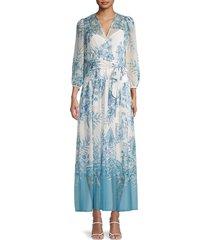 calvin klein women's floral maxi dress - mykonos - size 2