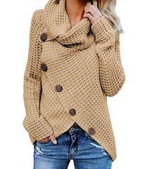 2019 otoño invierno suéter de cuello alto grueso grueso prendas de punto