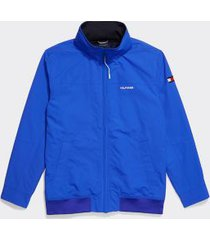 tommy hilfiger men's adaptive yachting jacket sapphire neon - m