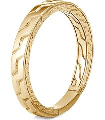 'classic chain' 18k gold band ring