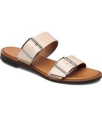biadarla buckle sandal shoes summer shoes flat sandals rosa bianco
