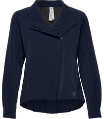 q speed run crew jacket outerwear sport jackets blauw new balance