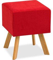 banqueta d'rossi  decorativa bruna suede vermelho - tricae