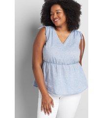 lane bryant women's tie-shoulder top 38/40 moonlight blue