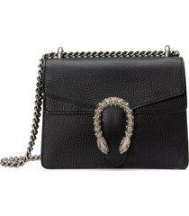 gucci mini leather shoulder bag - black