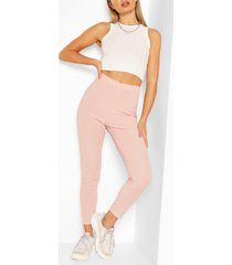 rib legging, blush