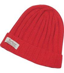 forzieri designer women's hats, cashmere & wool blend rib knit beanie hat