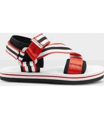 hunter men's original beach sandals - hunter red/hunter white/black - uk 11