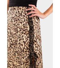 sami leopard print skirt - taupe