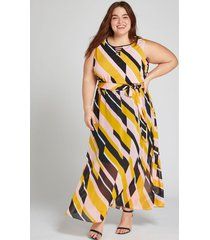 lane bryant women's printed strappy-neck maxi dress 18 geometric
