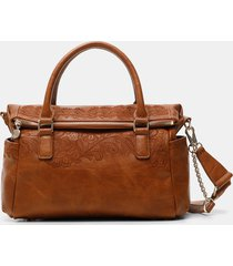 double handle briefcase bag - brown - u