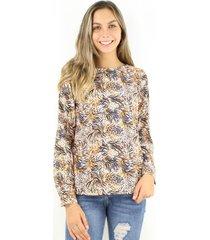 blusa emilia animal print jacinta tienda