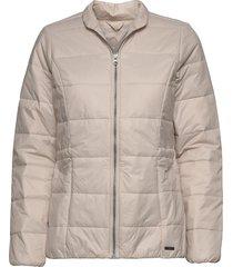 outdoor jacket fodrad jacka beige ilse jacobsen
