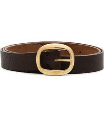 black & brown harper buckled belt