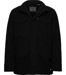 sherpa field coat black 05157 wollen jas lange jas zwart levi´s men
