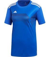 camisetas adidas campeon19 azul - azul - feminino - dafiti