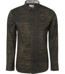 no excess shirt, l/sl, allover melange printe dk army