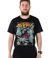 camiseta bandup! bdp clothing mission space masculina