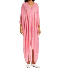 women's rodebjer agave seahorse print silk dress, size one size - pink