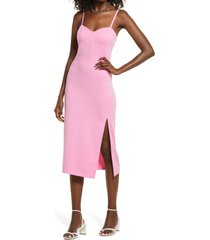 open edit knit corset dress, size x-large in pink crayon at nordstrom