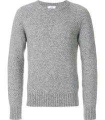 ami raglan sleeves crew neck sweater - grey
