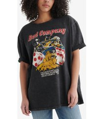 lucky brand cotton bad company-graphic t-shirt