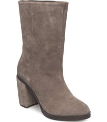 bridge hi boot suede shoes boots ankle boots ankle boots with heel beige royal republiq
