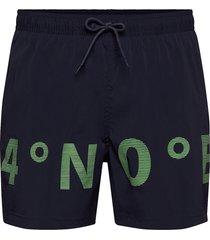 m karta print shorts zwemshorts blauw peak performance