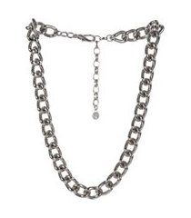 colar armazem rr bijoux curto correntes prata