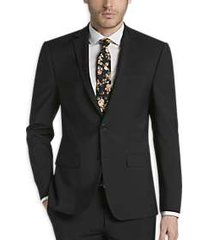 calvin klein infinite stretch black extreme slim fit suit