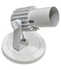spot de sobrepor para 1 lâmpada com aleta branco