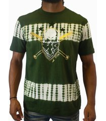 heritage america men's olive skull graphic t-shirt