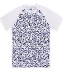 camiseta manga ranglan con estampado slim fit para hombre 98090