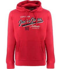 sweater jack jones logo sweatshirts mens rood