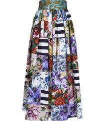 dolce & gabbana flared printed skirt