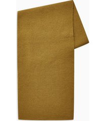 mens brown toffee ribbed basic scarf