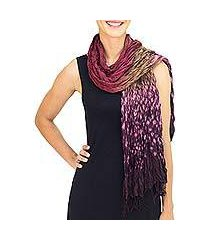tie-dyed scarf, 'fabulous orchid' (thailand)