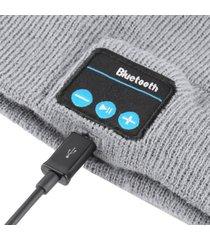 warm beanie hat wireless bluetooth smart cap headphone headset speaker mic usps