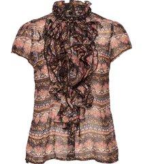 babettesz lilly shirt ss blouses short-sleeved svart saint tropez