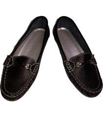 mocasines para dama, zapatos en cuero para dama, baletas negro