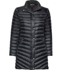 d1. light down coat gevoerde lange jas zwart gant