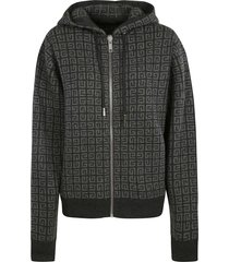 givenchy all-over logo hooded zip jacket