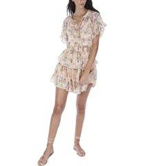 allison new york women's flutter sleeve blouse