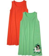 camicia da notte (pacco da 2) in cotone biologico (rosso) - bpc bonprix collection
