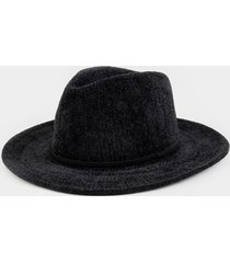 doreena basic band panama hat - black