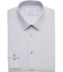 calvin klein sustainable steel gray slim fit dress shirt