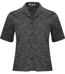 camisa estampado print color negro, talla 10