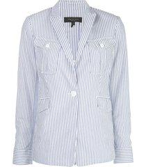rag & bone striped fitted blazer - white